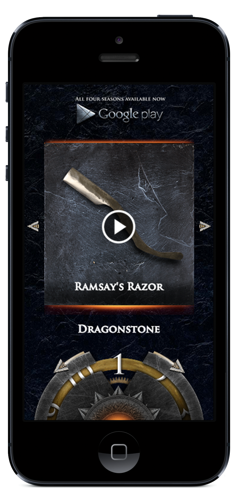 Game of Thrones mobile site